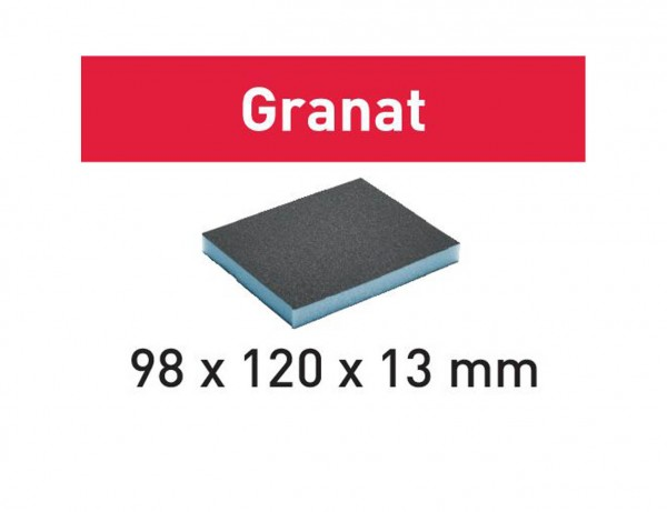 Schleifschwamm 98x120x13 800 GR/6 Granat