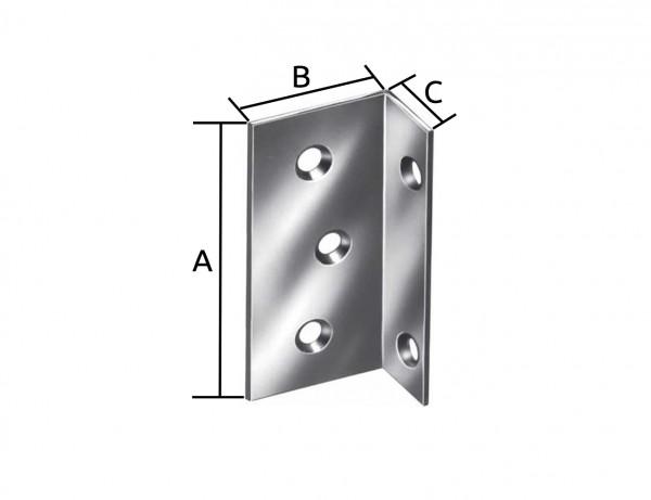 Breitwinkel | 75 x 40 x 25 mm | verzinkt