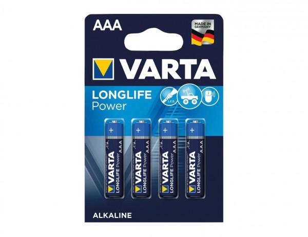 Batterie Longlife Power Micro AAA 1,5V LR 03 | 4er Pack