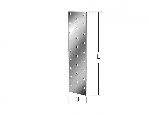 Lochplatte | 240 x 80 mm | verzinkt