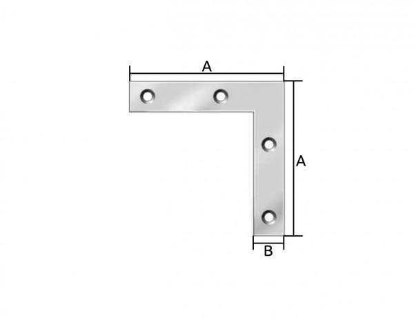Flachwinkel/Eckwinkel | 75 x 12 mm | verzinkt