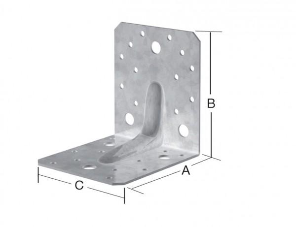 Schwerlast Winkelverbinder | 105 x 105 x 90 mm | verzinkt