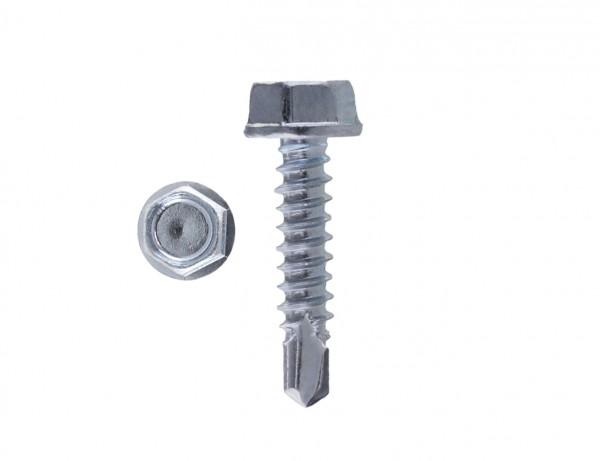 Bohrschraube DIN 7504 | Form K - Sechskantkopf mit Bund | galvanisch verzinkt