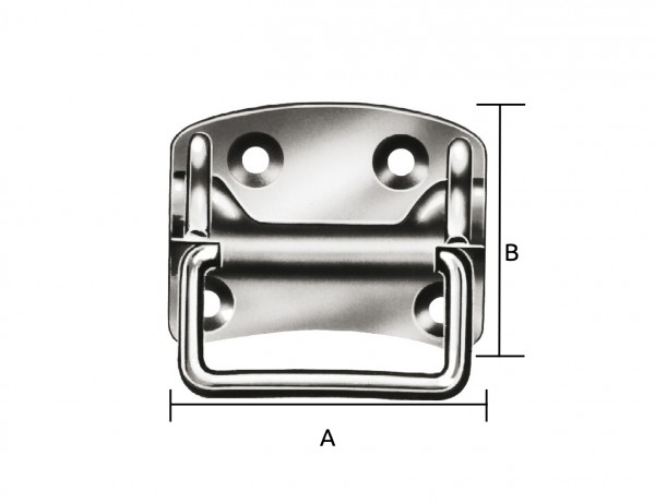 Kistengriff | 100 x 80 x 1,5 mm | verzinkt