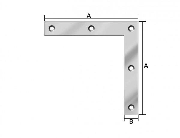 Flachwinkel/Eckwinkel | 120 x 20 mm | verzinkt