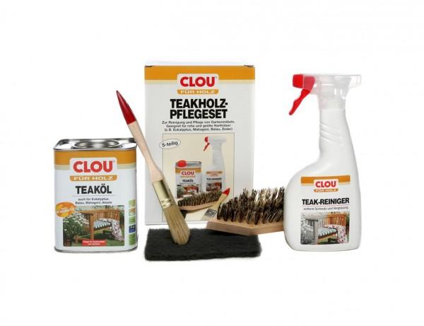 Clou Teakholz Pflegeset Zur Reinigung Und Pflege Von Gartenmöbeln