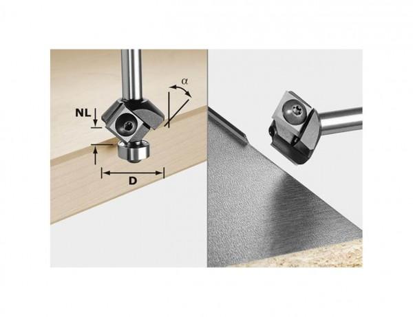 Fasefräser-Wendeplatten S8 HW 45° D27 12x12 KL