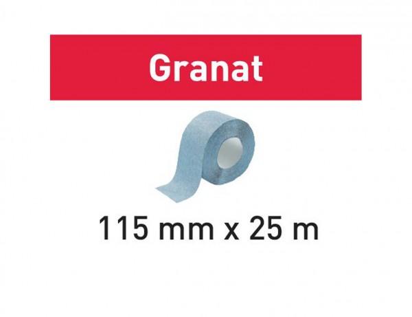Schleifrolle 115x25m P220 GR Granat