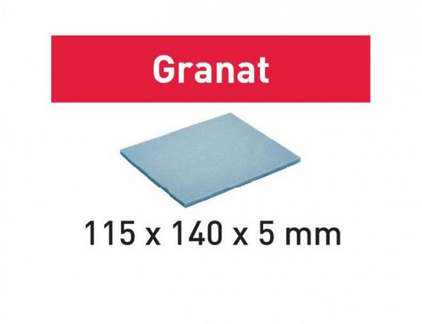 Schleifpad 115x140x5 EF 500 GR/20 Granat