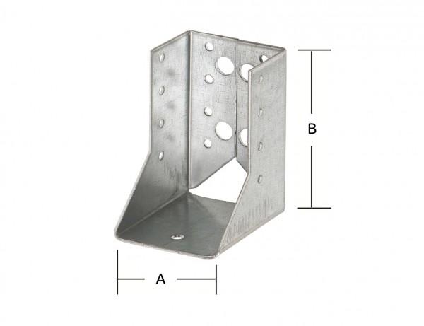 Balkenschuhe Typ B | 80 x 120 mm | verzinkt