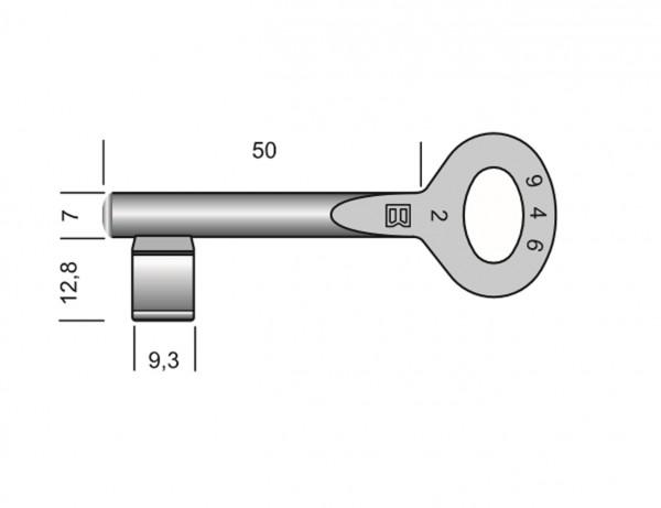 Zimmertür-Schlüssel | Buntbartschlüssel Standard | Serie 946