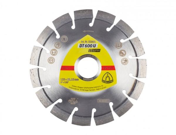 Diamant-Trennscheibe DT 600 U Supra für den vielfältigen Einsatz in Beton, Altbeton & Kalksandstein