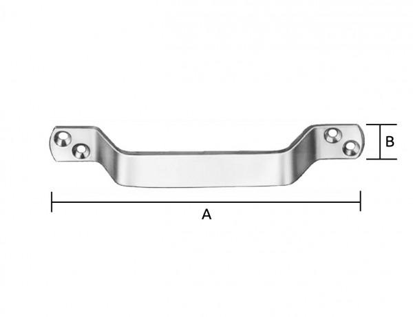 Handgriff | 110 x 13,5 x 4 mm | verzinkt