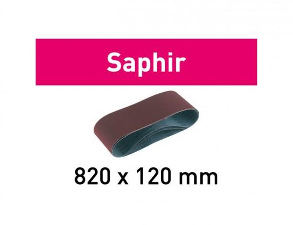 Schleifband 820x120-P120-SA/10 Saphir