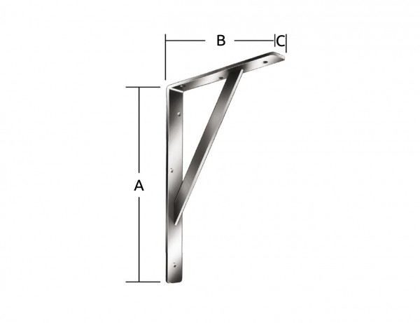 Stegkonsole | 400 x 250 x 30 mm | 250 kg | verzinkt