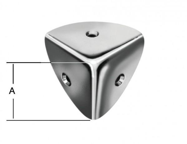 Kistenecken | 28 x 28 mm | 4 Stück | verzinkt