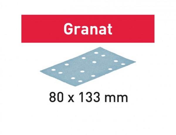 Schleifstreifen STF 80x133 P80 GR/10 Granat
