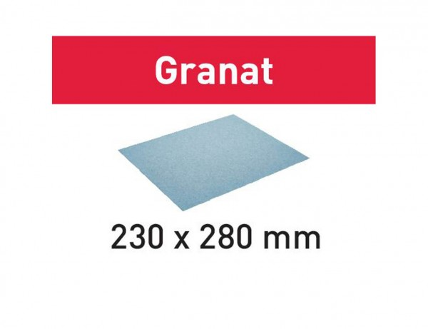 Schleifpapier 230x280 P220 GR/50 Granat