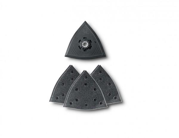 Dreieck-Schleifset 130 mm inkl. Schleifmittel   7-teilig