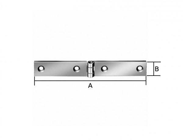 Geschlagenes schmales Tischband | 140 x 20 mm | verzinkt