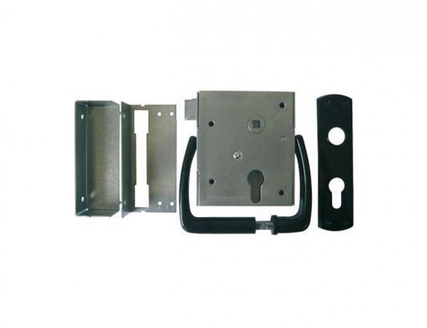 Universal-Kastenschloss mit schließender Falle | BB oder PZ | mit Drückergarnitur und Schließblech