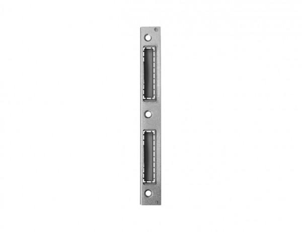 Winkelschließblech für Zimmertüren | mit Kunststoffeinlage | links + rechts verwendbar