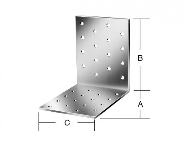 Lochplattenwinkel | 80 x 80 x 80 mm | verzinkt