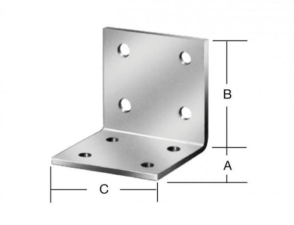 Winkelverbinder | 40 x 40 x 40 mm | verzinkt