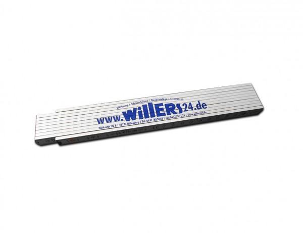 Holz-Gliedermaßstab 2 Meter - oder einfach Original Willers-Zollstock!