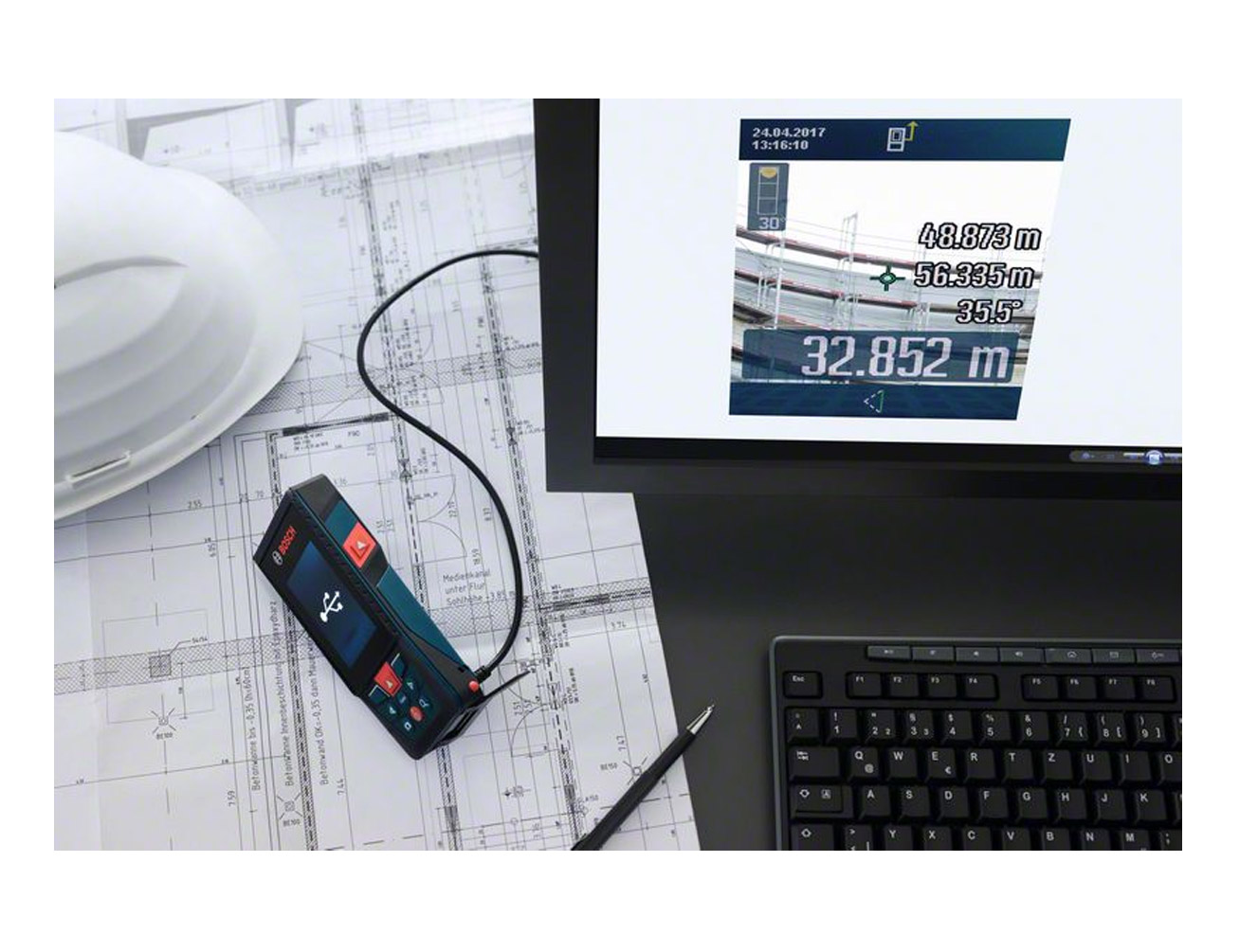 Bosch Entfernungsmesser Glm : Laser entfernungsmesser glm 120 c mit integrierter kamera und