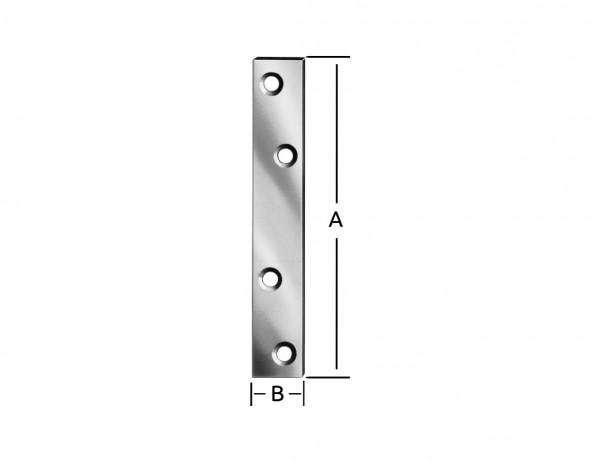 Verbindungsblech | 80 x 15 mm | verzinkt