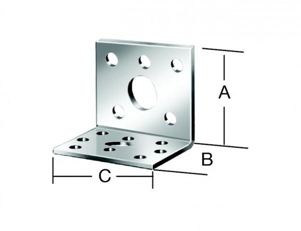 Winkelverbinder | 80 x 60 x 60 mm | verzinkt