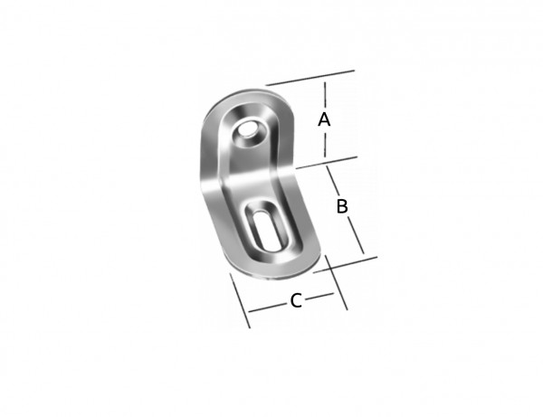Verstellwinkel | 39 x 28 x 22 mm | verzinkt