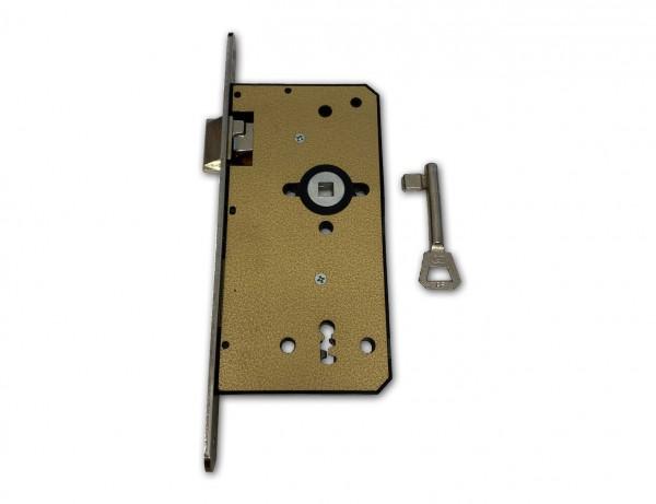 BB-Zimmertürschloss DIN-Plus | 18 mm Edelstahl-Stulp | 2-tourig | Links & Rechts | Aktion - 80 Stück
