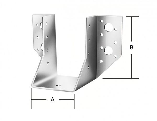 Balkenschuhe Typ A | 100 x 140 mm | verzinkt