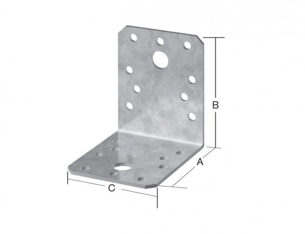 Winkelverbinder | 105 x 105 x 90 mm | verzinkt