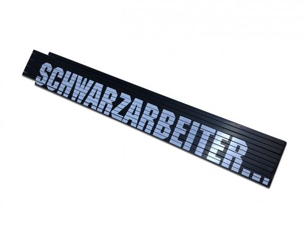 Holz-Gliedermaßstab 2 Meter - Schwarzarbeiter Zollstock!