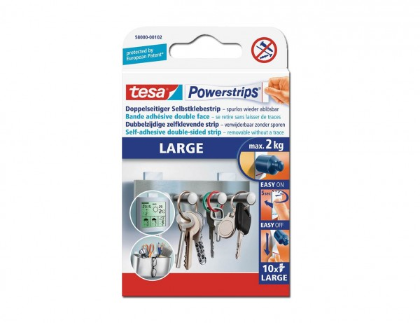 Powerstrips, Large   Starker Halt für Gegenstände bis 2 kg