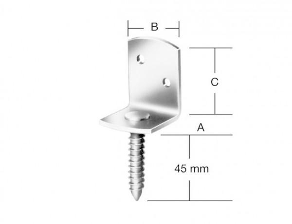 Flechtzaun-Beschlag | 35 x 30 x 40 mm | L-Form | verzinkt