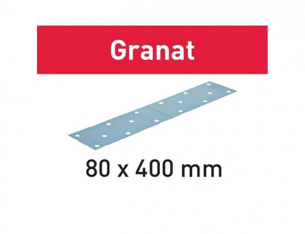 Schleifstreifen STF 80x400 P240 GR/50 Granat