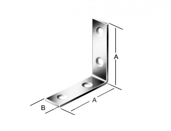 Stuhlwinkel | 60 x 18 mm | weiß kunststoffbeschichtet
