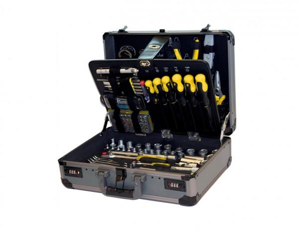 Teco Werkzeugkoffer Bestuckt Verschliessbarer Aluminiumkoffer 132