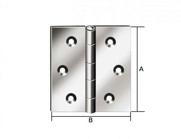 Käntiges Scharnier | 100 x 100 mm | verzinkt mit MS-Stift