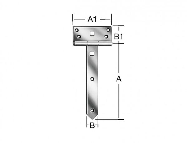 Schwere Kreuzgehänge | 300 x 38 x 4 mm | verzinkt