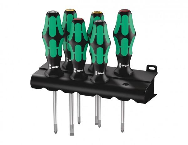 Schraubendrehersatz 335/350/355/6 Kraftform Plus Lasertip + Rack | mit Take-it-easy Werkzeugfinder