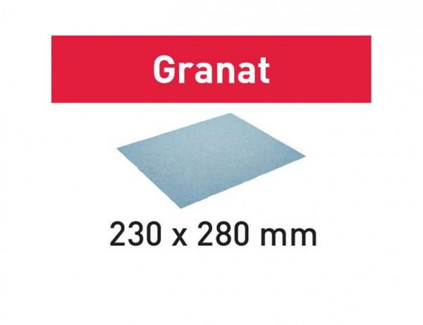 Schleifpapier 230x280 P400 GR/50 Granat