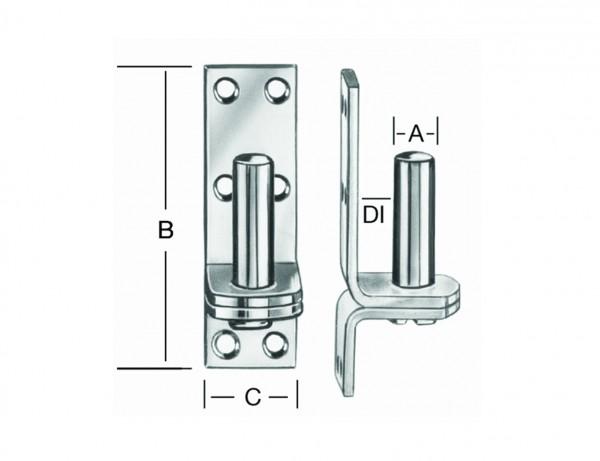 Platten-Kloben | 13 mm Dorn | Abstand DI 11 mm | Edelstahl rostfrei