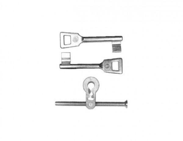 Buntbart-Einsätze mit 2 Schlüsseln | Zum Nachrüsten von PZ auf Buntbart