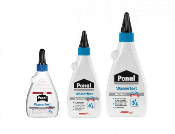 Ponal Holzleim wasserfest | Super3 Qualität | geeignet für Innen und Außen | 120-550 g