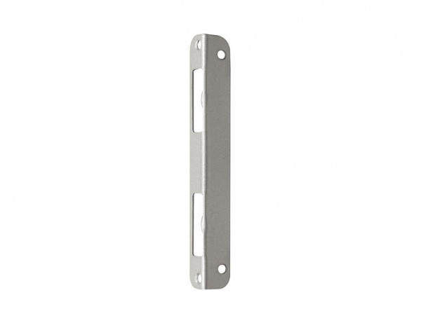 Winkelschließblech für Zimmertüren | Stahl, silber lackiert | links + rechts verwendbar